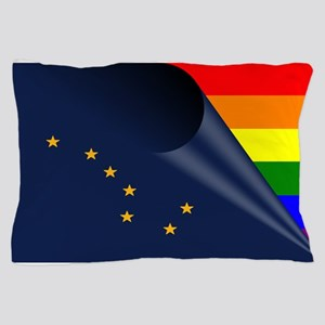 Alaska Gay Pride Rainbow Pillow Case