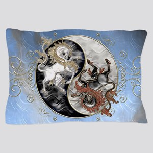 Harvest Moons Unicorn Yin Yang Pillow Case
