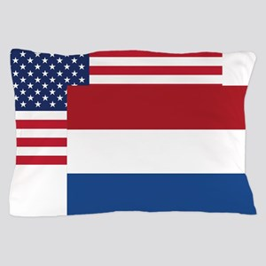 American And Dutch Flag Pillow Case