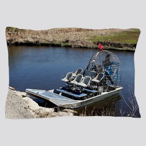 Florida swamp airboat 2 Pillow Case