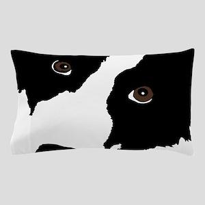 Border Collie Watching Ewe Pillow Case