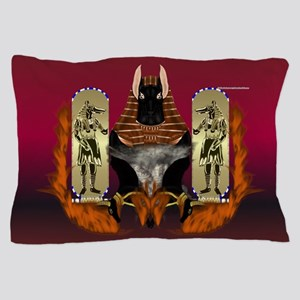 Anubis Flaming Pillow Case
