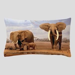 Family Of Elephants Pillow Case