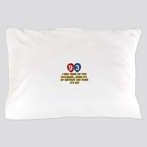 93 year old birthday designs Pillow Case