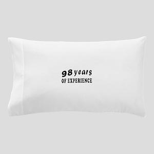 98 years birthday designs Pillow Case