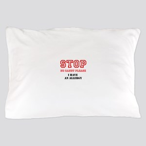 Allergy Warning Pillow Case