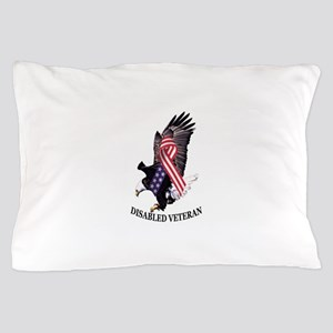 Disabled Veteran Eagle And Ribbon Pillow Case