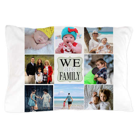 custom family photo collage pillow case by lovetobeloved