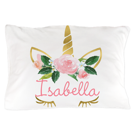 sleeping unicorn personalize Pillow Case