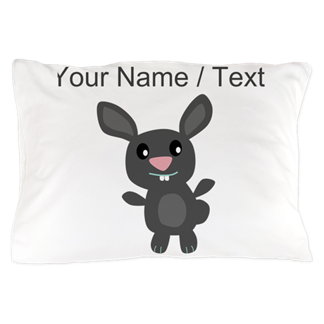 Custom Grey Bunny Pillow Case