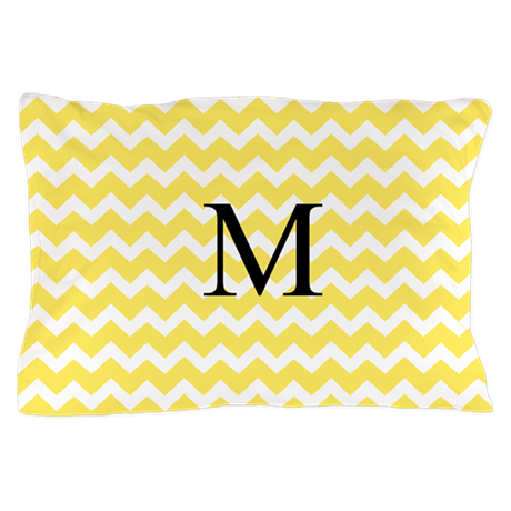 Yellow Chevron Pattern Pillow Case