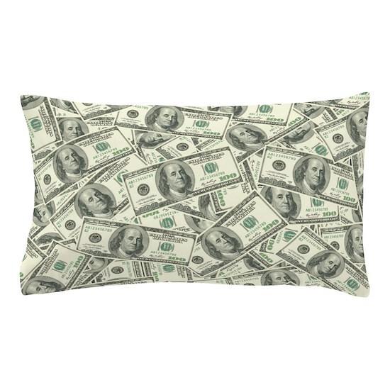 100 Dollar Bill Money Pattern Pillow