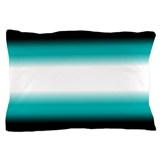 Teal White Black Ombre