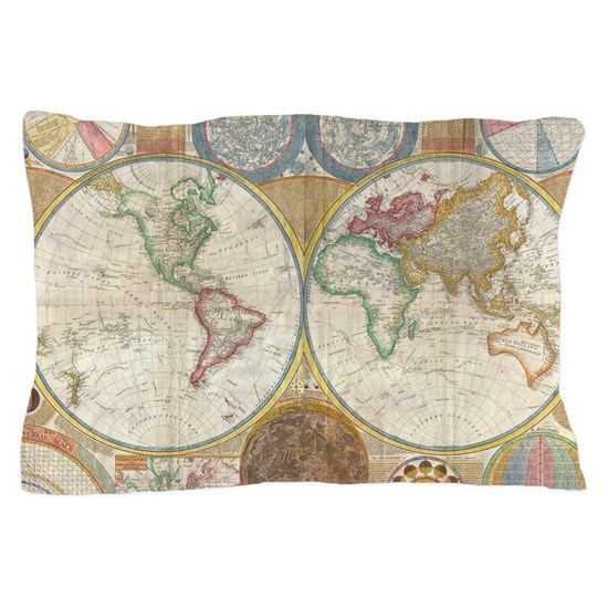 World Map 1794 Pillow Case By Vintagelevel Cafepress