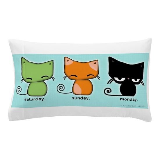 Saturday Sunday Monday Cats Pillow Case