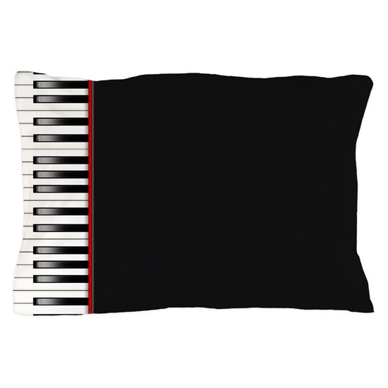 piano keyboard pillow case by cowpiecreek cafepress. Black Bedroom Furniture Sets. Home Design Ideas