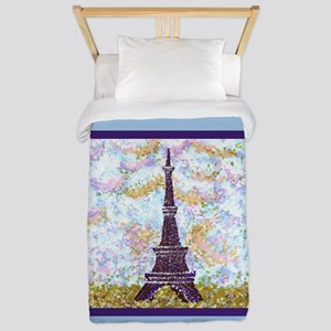 Eiffel Tower Pointillism landscape painting light