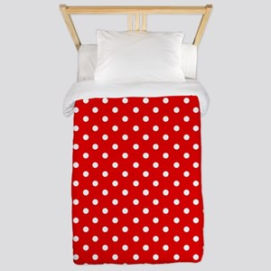 Red and white polka dot Twin Duvet