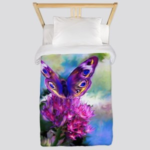 Colorful Abstract Butterfly Twin Duvet
