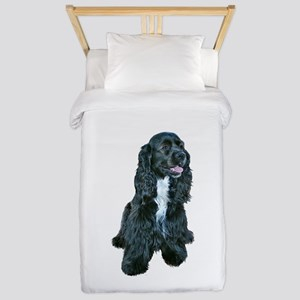 Cocker (black- white bib) Twin Duvet