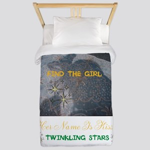 FIND THE GIRL. HER NAME IS KISSY. Twin Duvet
