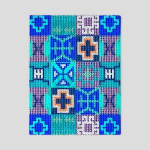 Blue Navajo Symbols Twin Duvet