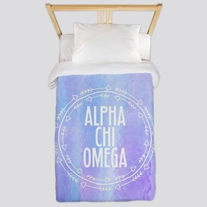 AlphaChiOmega Arrows Circle Twin Duvet Cover