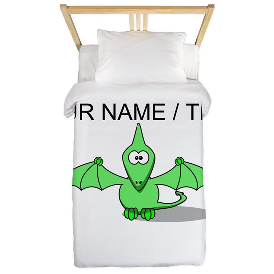 Custom Green Pterodactyl Cartoon
