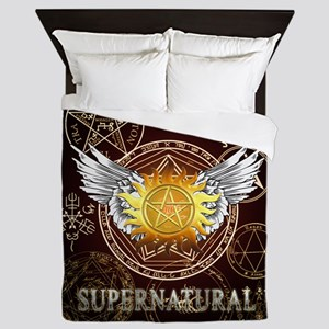 Supernatural Pentagrams Queen Duvet