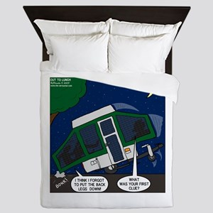 Pop-Up Camper Problems Queen Duvet