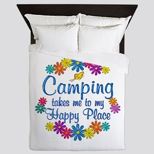 Camping Happy Place Queen Duvet