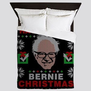 very bernie sanders ugly christmas Queen Duvet