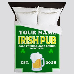 Irish Pub sign Queen Duvet