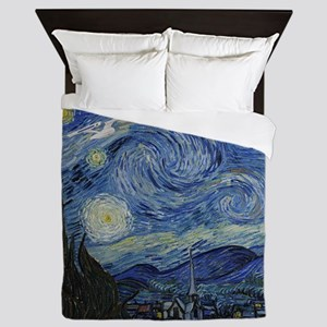 starry trek night Queen Duvet