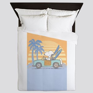 Snoopy Hits the Beach Queen Duvet