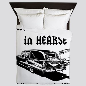 There is no T in HEARSE Queen Duvet