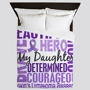 Tribute Square Daughter Hodgkins Lymph Queen Duvet