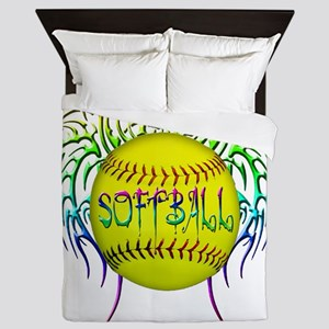Buffy softball  Queen Duvet