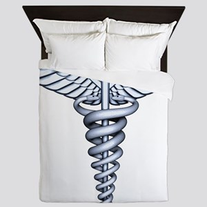 Medical Symbol Queen Duvet