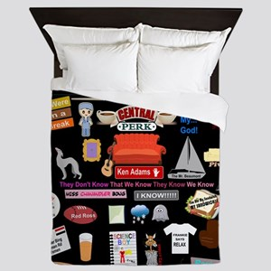 Friends Symbol and Quotes Queen Duvet