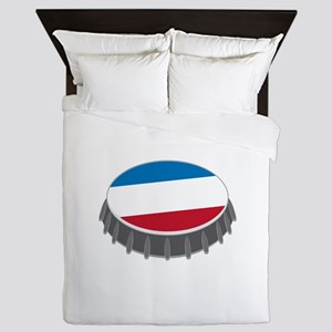 Bottle Cap Queen Duvet