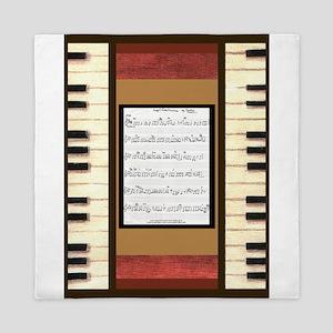 Piano Keys Sheet Music Song 5x7 Queen Duvet