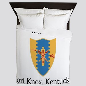 6th Squadron 4th Cavalry Queen Duvet