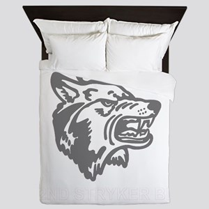 Army-172nd-Stryker-Arctic-Wolves-Blk-S Queen Duvet