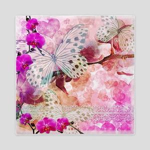 Orchids and Butterflies Queen Duvet