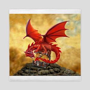 Red Dragon's Treasure Chest Queen Duvet