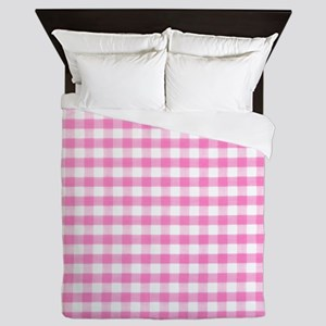 Hot pink gingham Queen Duvet