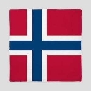 Norwegian Flag Queen Duvet