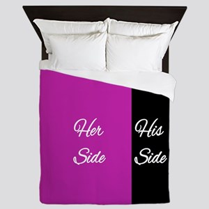 Her Side/His Side Queen Duvet