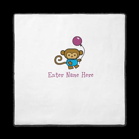 Personalized Monkey Queen Duvet